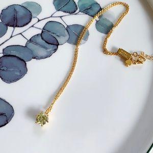 Kate Spade Stone Pendant Necklace - yellow